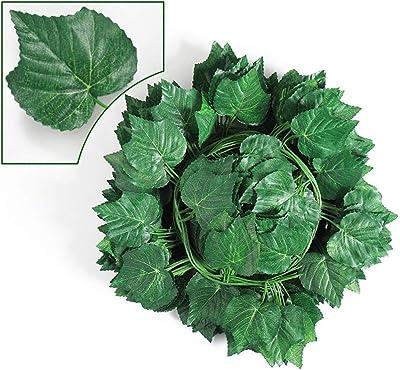 Guirnalda de hojas de vid artificiales, de 2,4 m, para colgar en ...
