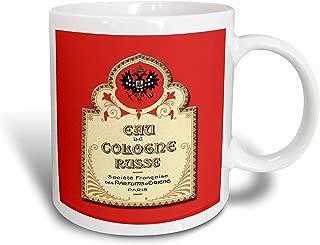 3dRose 153590_1 Eau De Cologne Russe Paris French Perfume Label Mug, 11 oz, Ceramic
