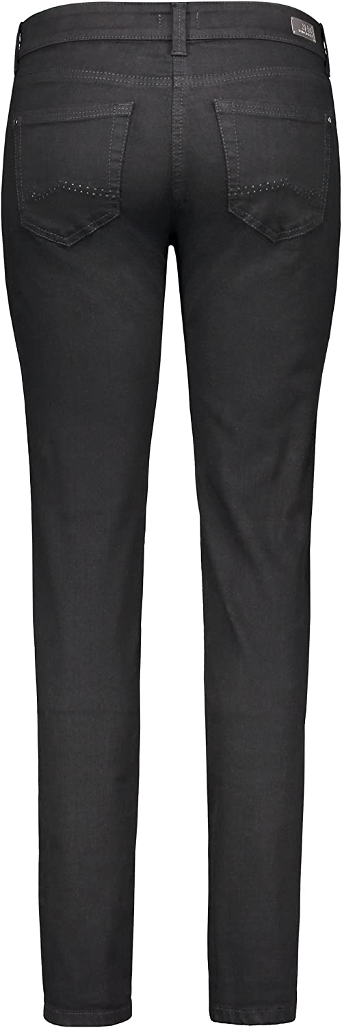 MAC Carrie Pipe Jean Straight (Coupe, Jambe Droite) Femme Schwarz (Black D999)