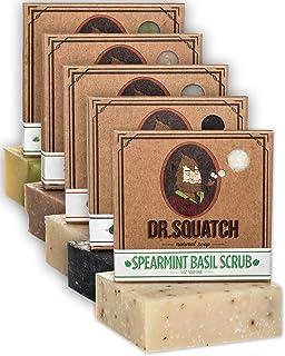 Dr. Squatch Men's Soap Variety Pack – Manly Scent Bar Soaps: Cedar Citrus,..