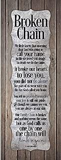 Dexsa Broken Chain.New Horizons Wood Plaque