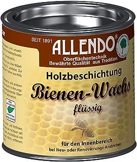 Allendo Bienenwachs flüssig 375ml von Bindulin, biologische Holzbeschichtung Bienen Wachs im Innenbereich, umweltfreundlich, wasserverdünnbar, geeignet für Spielzeug Farbe: natur