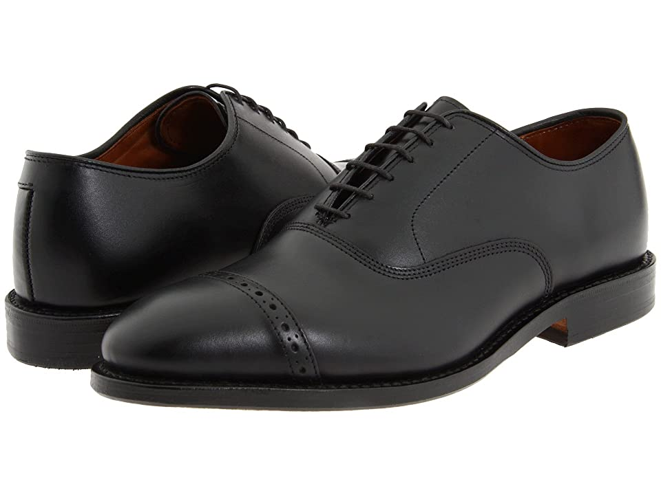 Edwardian Men's Shoes- New shoes, Old Style Allen Edmonds Fifth Avenue Black Calf Mens Lace Up Cap Toe Shoes $394.95 AT vintagedancer.com