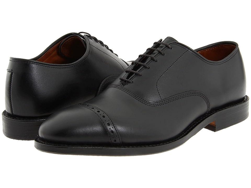 Mens Vintage Style Shoes & Boots| Retro Classic Shoes Allen Edmonds Fifth Avenue Black Calf Mens Lace Up Cap Toe Shoes $394.95 AT vintagedancer.com