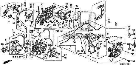 Genuine Honda 72610-SHJ-A22 Right Slide Door (Power) Latch Assembly