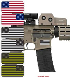 """6 (six) pcs - AR15 Lower AMERICAN FLAG Stickers 