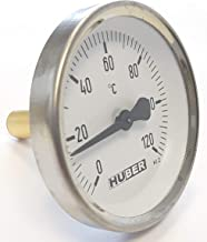 Lantelme Anlegethermometer 0 bis 120 /°C Analog Rohranlegethermometer Bimetall Thermometer f/ür Heizung Klima Rohre 7950