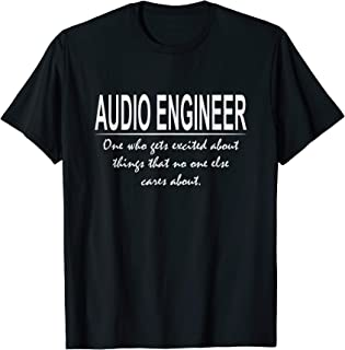Funny Audio Engineer Definition Cool Engineering T-Shirt