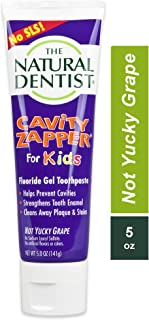 Sponsored Ad - The Natural Dentist Cavity Zapper Fluoride Gel Toothpaste For Kids Daily Use, Sulfate Free, Not Yucky Grape...