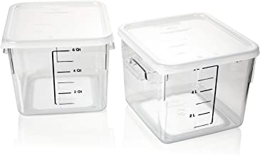 Rubbermaid Commercial Products 1815325 Carb-x Space Saving Square Food Storage Container, Plastic, Clear (Pack of 2)