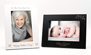 Personalized Custom Photo Picture Frame | Design A Truly Unique Gift | Laser Engraved - 4x6, Black, Portrait