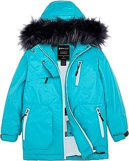 Wantdo Girls` Waterproof Ski Jacket Windproof Fleece Winter Coat Parka