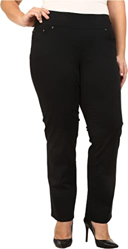 Plus Size Peri Pull On Straight Twill in Black