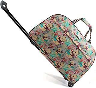 Jeemiter Luggage 20 inch Rolling Duffle trolley bag travel tote Carry-On Bears