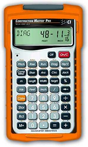 Calculated Industries 4065 Construction Master Pro Advanced Construction Math Feet-inch-Fraction Calculator for Contr...