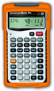 Calculated Industries 4065 Construction Master Pro Advanced Construction Math Feet-inch-Fraction Calculator for Contractor...