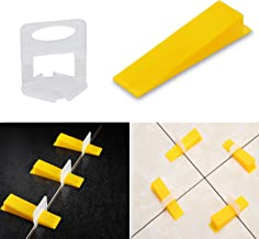 1//8 Inch 500 Pieces Wide Tile Spacers Tiles Leveler Spacers Replaceable Tile Levelers Wall Floor Cross Spacers for Ceramic Tile and Stone Installation