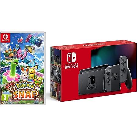 Nintendo Switch (Grey) + New Pokemon Snap (Nintendo Switch)