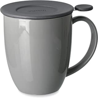 FORLIFE Uni Brew-in-Mug with Tea Infuser and Lid, 16-Ounce, Gray