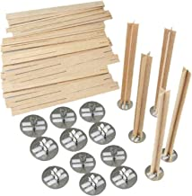Kaarsenlont 20 stks 5 inch Cross Wooden Candle Wicks Wood Candles Core voor DIY Candle Making Supply Sojy Passin Wax Econo...