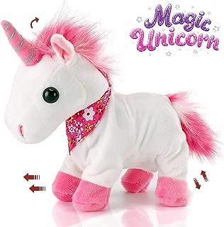 Liberty Imports Interactive Animated Walking Pet Electronic Unicorn Plush Sound Control Toy Animal - Gallops and Neighs (Unicorn)