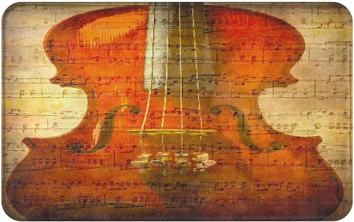 Bathroom Rugs Bath MatFiddle Instrument New sales Strings Violin Woo Music price