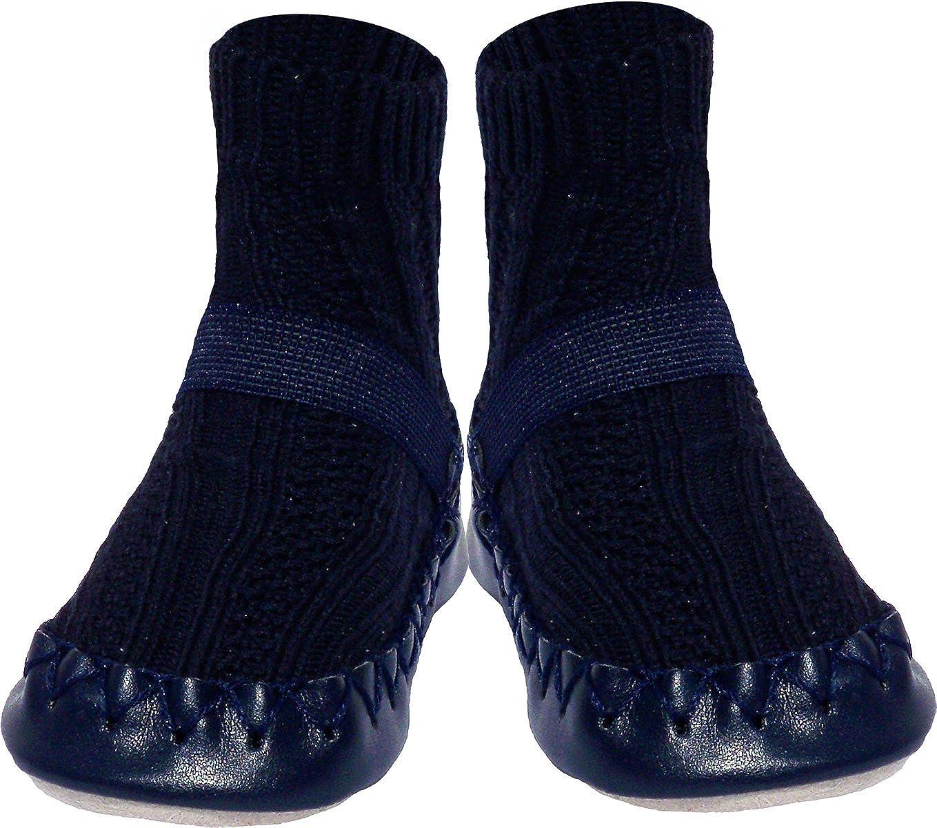 Konfetti Cable Knit Swedish Socks Slipper 2021 model Omaha Mall Moccasin