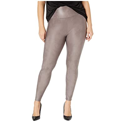 Spanx Plus Size Faux Leather Leggings (Antique Rose) Women