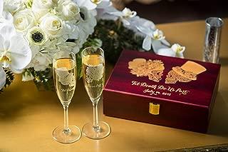 sugar skull champagne flutes