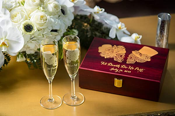 Sugar Skull Wedding Set Champagne Flutes Wedding Flutes Toasting Flutes Sugar Skull Day Of The Dead Dia De Los Muertos Skull Wedding