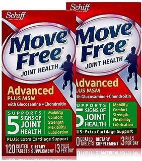 Move free维骨力氨糖软骨素加MSM绿瓶加强版 120粒/瓶* 2瓶 (美国顺丰直邮包税)