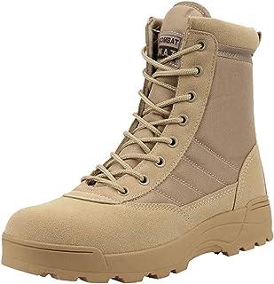 Stivaletti da Moto per Uomo Primavera Autunno Scarpe da Allenamento Outdoor High Top Casual Vintage Zipper Desert Boots Ca...