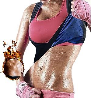 Women's Workout Tank Top Sauna Vest Sweat Enhancing Waist Trainer Slimming Body Shaper Gym Fitness Polymer Shirt