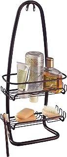 InterDesign Cora Bathroom Shower Caddy for Shampoo, Conditioner, Soap - Bronze