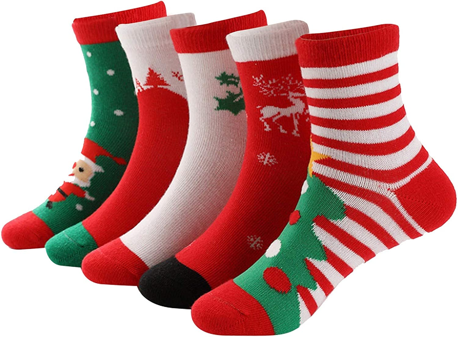 Unisex Kids Gifts 5 Pairs Christmas Limited time cheap sale Theme Cotton Set Ankle Socks