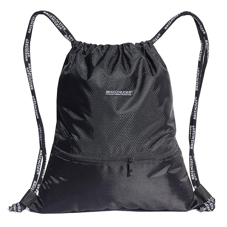 ESVAN Proof Gymbag Large Drawstring Backpack Gymsack Sackpack for Sport Traveling Basketball Yoga Running 9 Colors & 2 Sizes