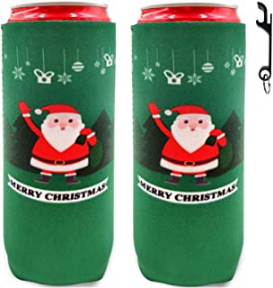 ZSYKD 2pcs/6pcs Neoprene Slim Can Cooler, Coolie Cover, Collapsible Neoprene Beer Can Michelob Ultra, Red Bull, Spiked Seltzer, White Claw, 12oz Slim cans