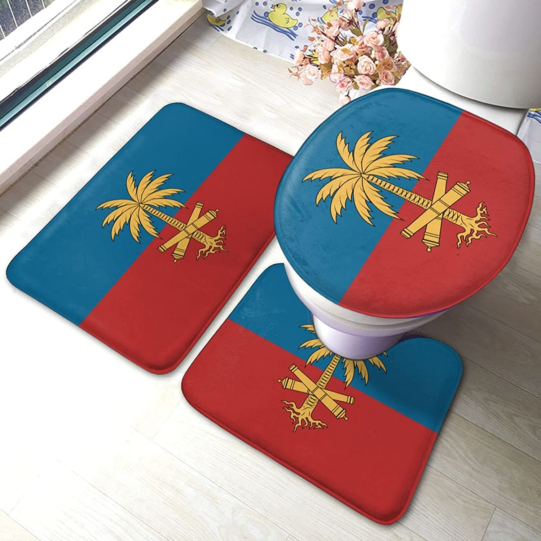 SALENEW very popular! Haiti Flag 1 Bathroom Choice Antiskid Pads Set Piece 3 Bath