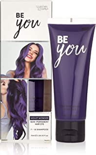 Semi-Permanent Violet Hair Dye - Vibrant 2.36 Oz. Tubes Temporary Hair Color - Ammonia and Peroxide Free -Vegan and 100% Cruelty-Free Toner - Lasts for 7-15 Shampoos - by Splashes and Spills
