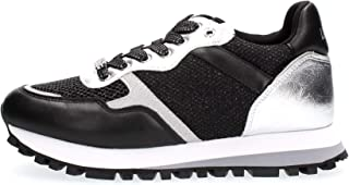 LIU JO Wonder 1 Sneaker Running Naplak Black Silver BA1049TX163