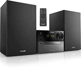 Philips Bluetooth Stereo System for Home with CD Player, Wireless Streaming, MP3, USB, Audio in, FM Radio, Micro Music Sou...