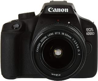 Canon EOS 4000D 18-55mm Is Fotoğraf Makinesi, Full Hd (1080P), Siyah, 2 Yıl Canon Eurasia Garantili