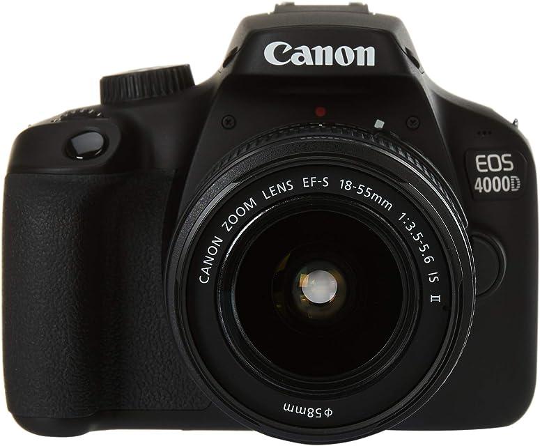 Canon EOS 4000D BK 18-55 IS EU26 Cuerpo de la cámara SLR 18 MP 5184 x 3456 Pixeles Negro - Cámara Digital (18 MP 5184 x 3456 Pixeles Full HD 436 g Negro)
