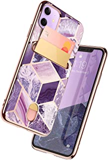 i-BLASON iPhone 11 ケース 2019 おしゃれ ICカード収納 軽量 耐衝撃 全面保護 落下防止 カメラ保護 携帯カバー 紫 [Cosmo Card シリーズ]