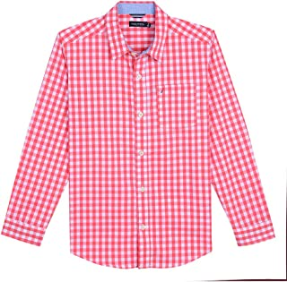 Boys' Long Sleeve Gingham Woven Shirt