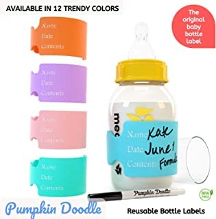 The Original Write and Reuse Baby Bottle Labels for Daycare – Available in 11..