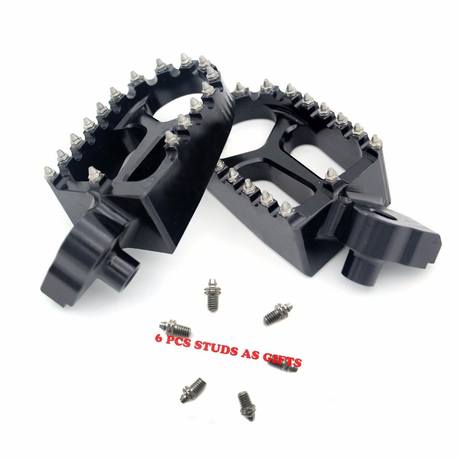 KKE Foot Pegs Fit for YAMAHA YZ125 YZ250 YZ250F YZ450F YZ426F Footpegs Footrests Black