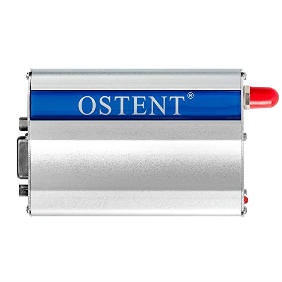 OSTENT GSM Modem with Wavecom Q2303A Module COM/RS232/Serial Port at Commands SMS Voice Call US Plug Power Adapter