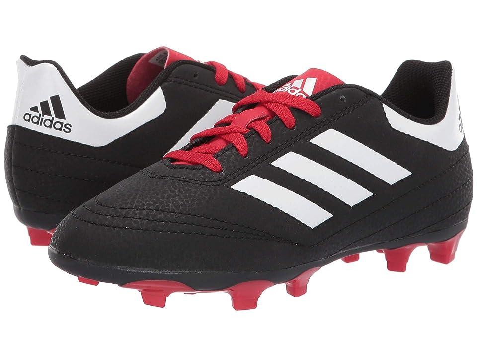 adidas Kids Goletto 6 Firm Ground Soccer (Little Kid/Big Kid) (Black/White/Scarlet) Kids Shoes