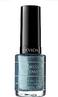 Revlon ColorStay Gel Envy Longwear Nail Polish, with Built-in Base Coat & Glossy Shine Finish, in Blue/Green, 340 Sky's Th...
